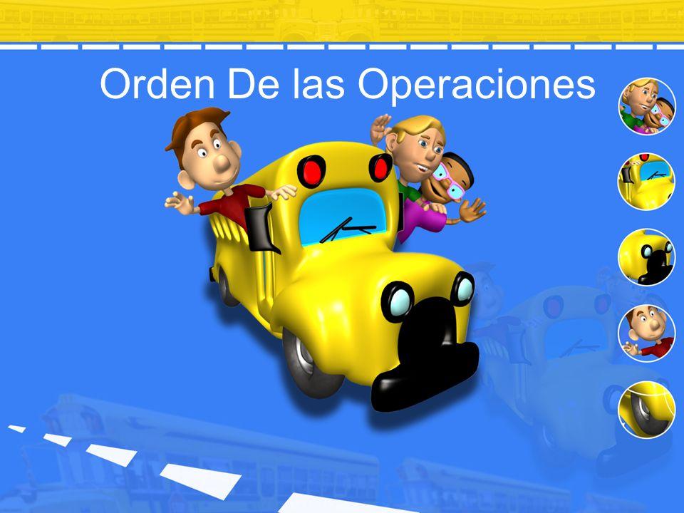 Orden De las Operaciones