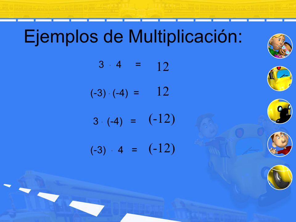 Ejemplos de Multiplicación: