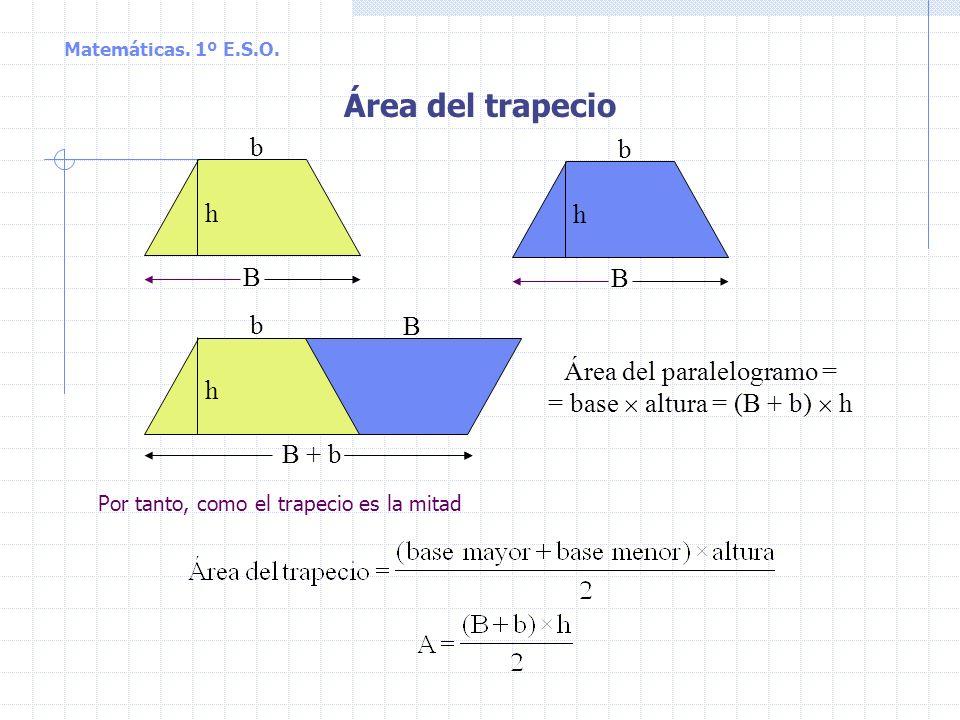 Área del trapecio b b h h B B b B