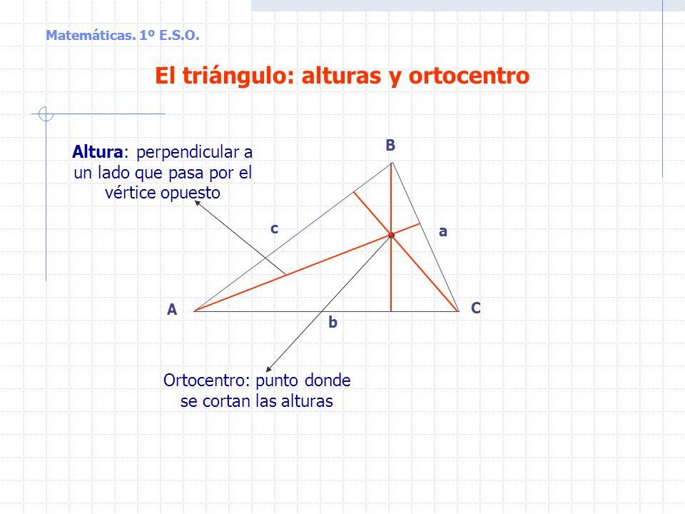 El triángulo: alturas y ortocentro
