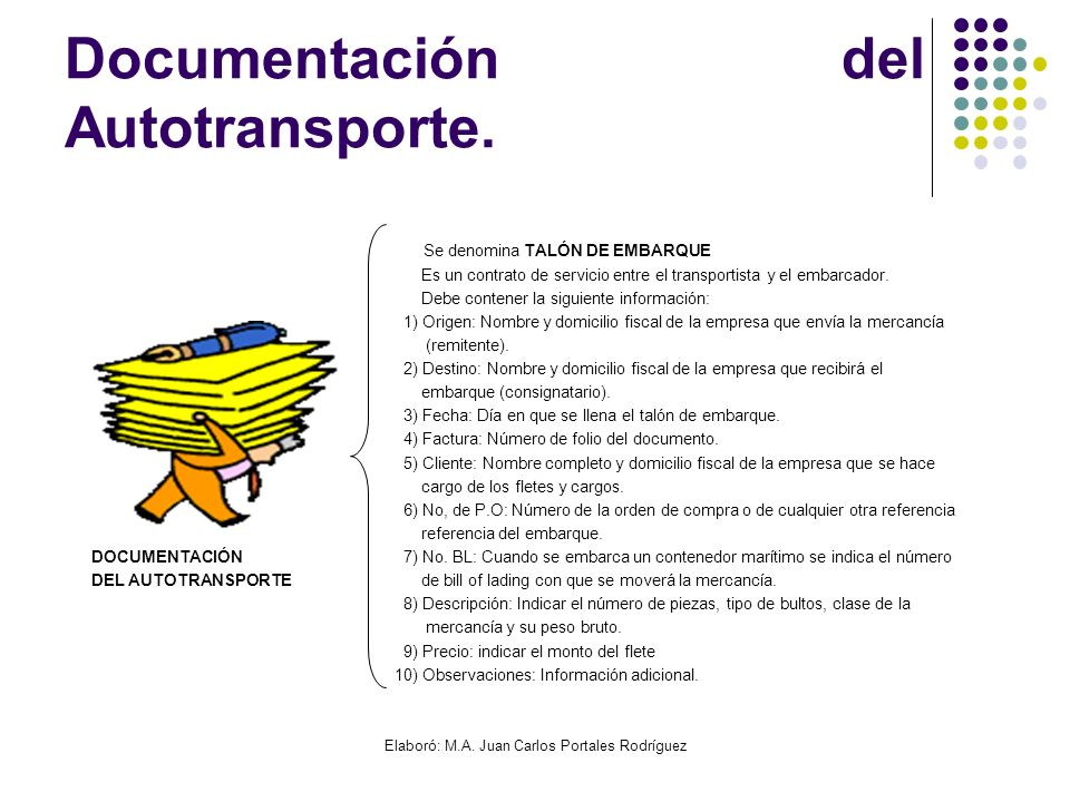 Documentación del Autotransporte.