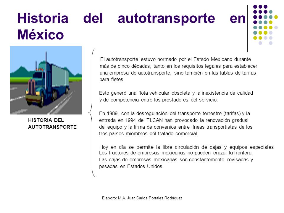 Historia del autotransporte en México