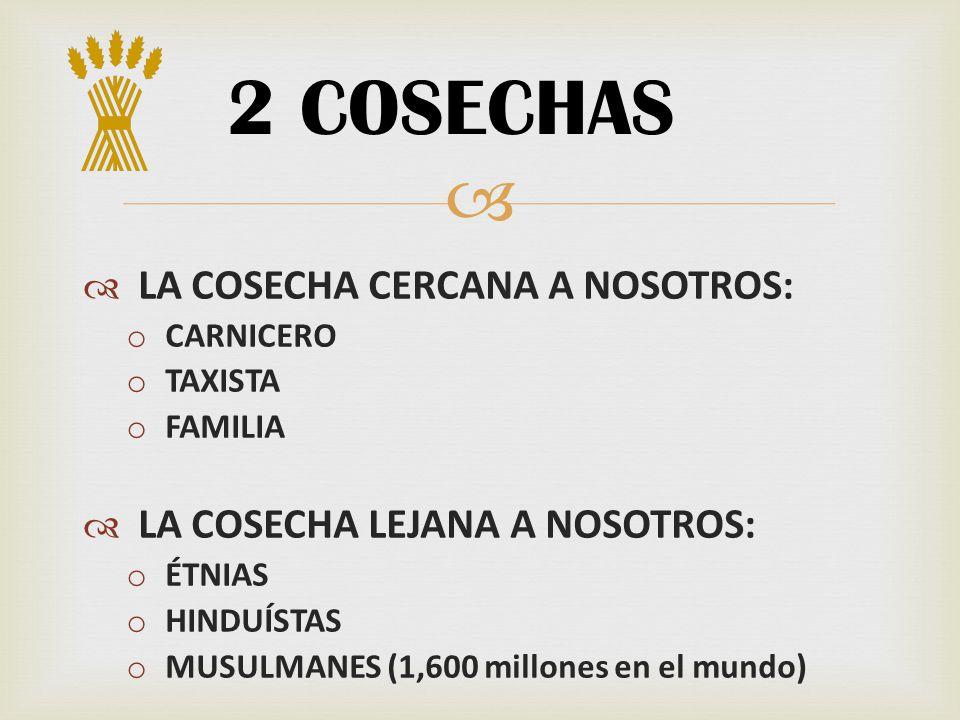2 COSECHAS LA COSECHA CERCANA A NOSOTROS:
