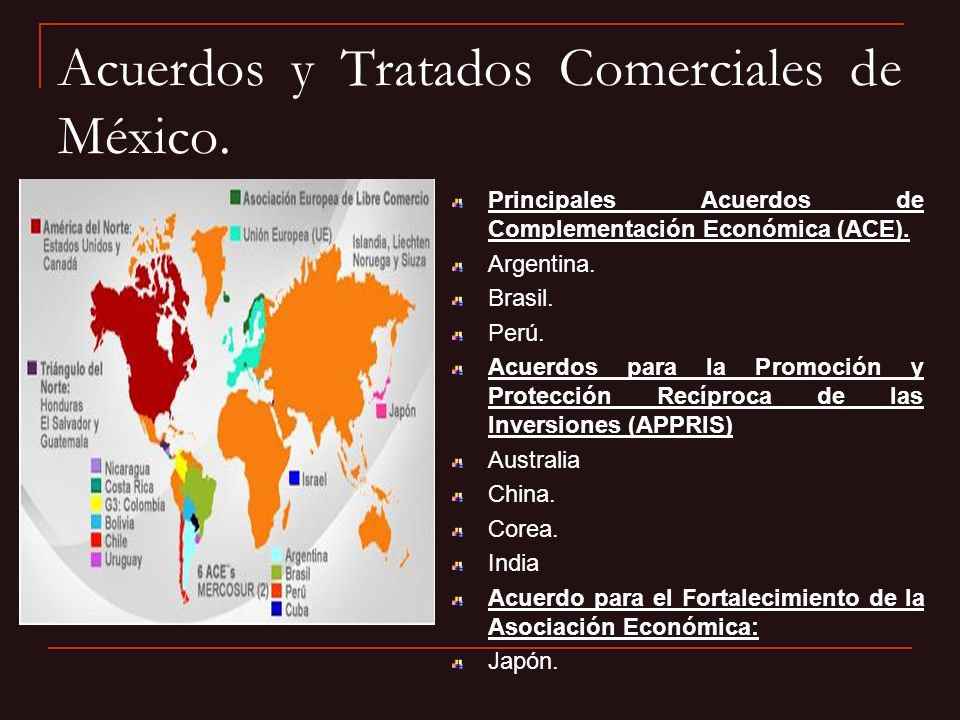 Acuerdos y Tratados Comerciales de México.