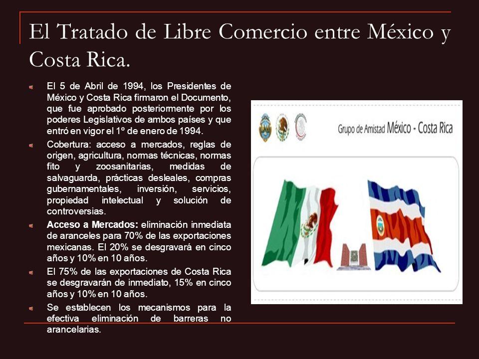 El Tratado de Libre Comercio entre México y Costa Rica.
