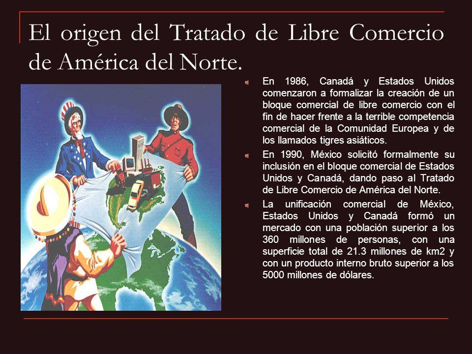 El origen del Tratado de Libre Comercio de América del Norte.