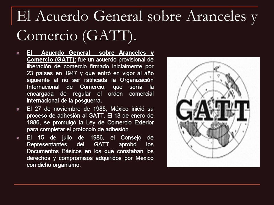 El Acuerdo General sobre Aranceles y Comercio (GATT).