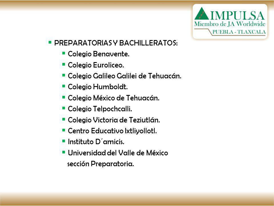 PREPARATORIAS Y BACHILLERATOS: