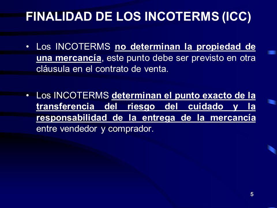 FINALIDAD DE LOS INCOTERMS (ICC)
