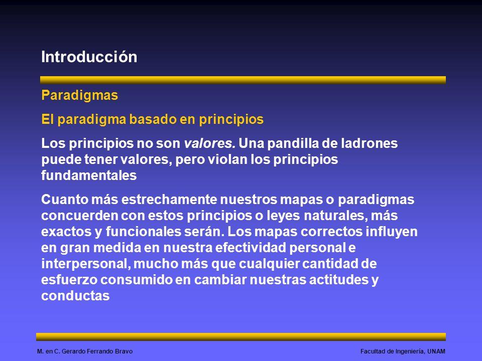 Introducción Paradigmas El paradigma basado en principios