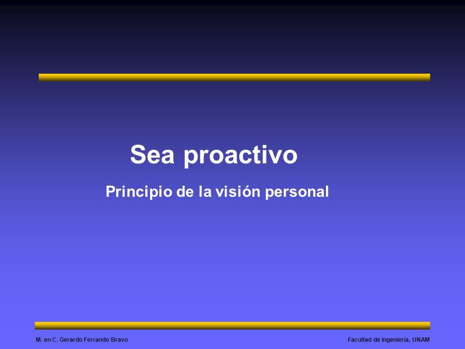 Sea proactivo Principio de la visión personal