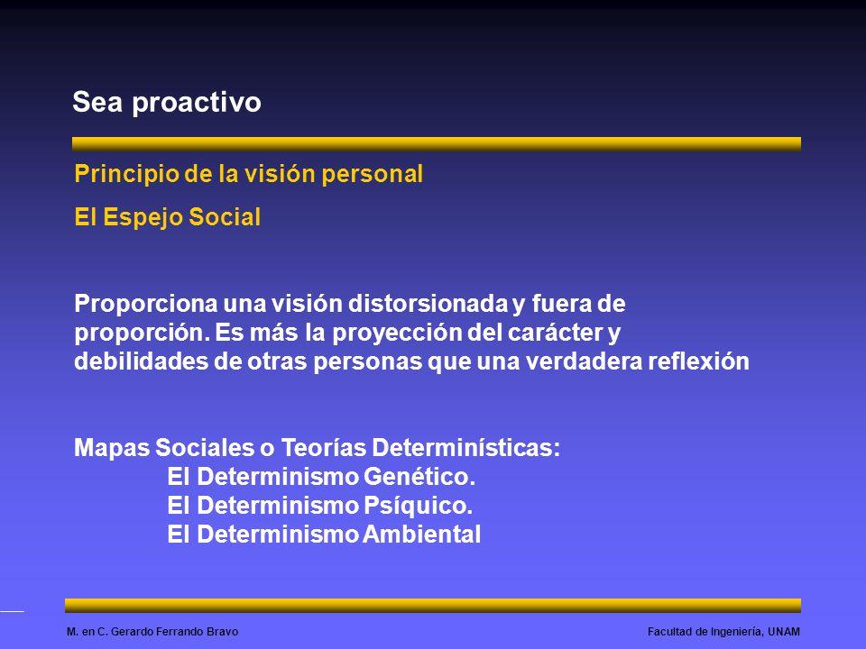 Sea proactivo Principio de la visión personal El Espejo Social