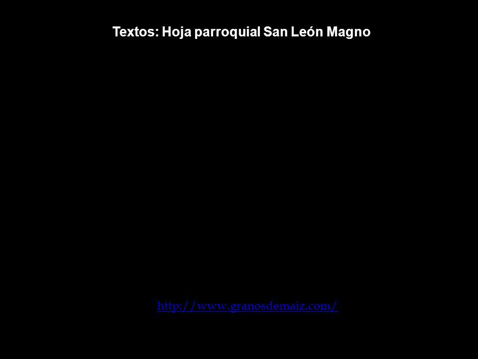Textos: Hoja parroquial San León Magno