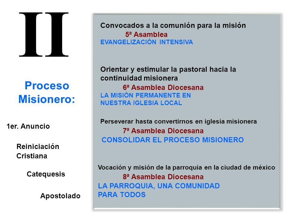 II Proceso Misionero: Convocados a la comunión para la misión