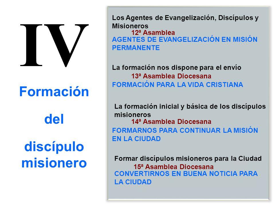 IV Formación del discípulo misionero