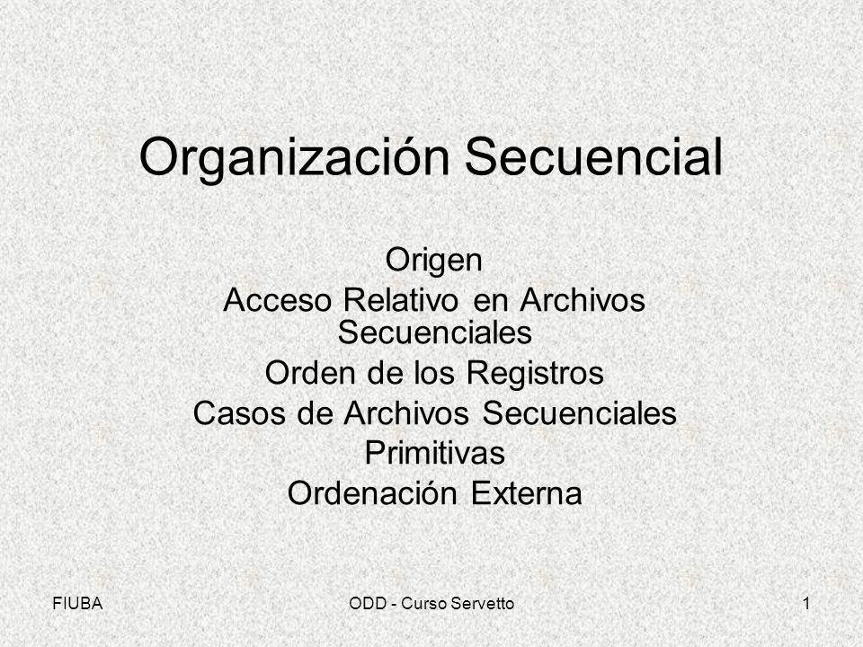 Organización Secuencial