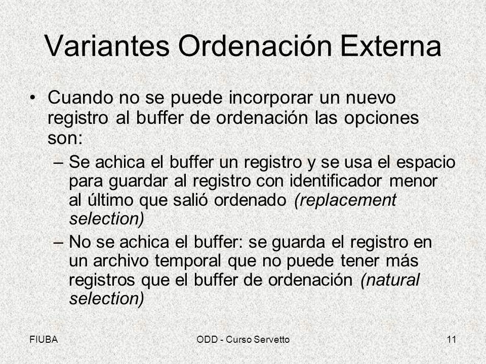Variantes Ordenación Externa