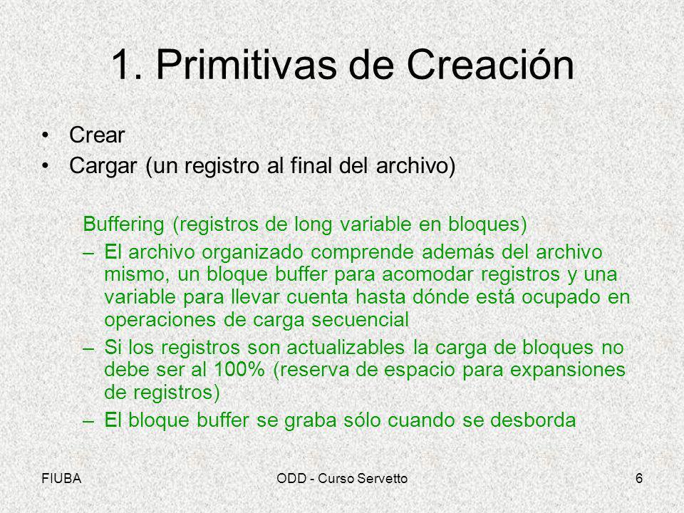 1. Primitivas de Creación