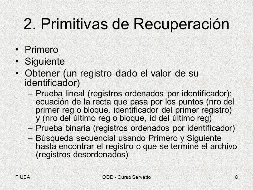 2. Primitivas de Recuperación