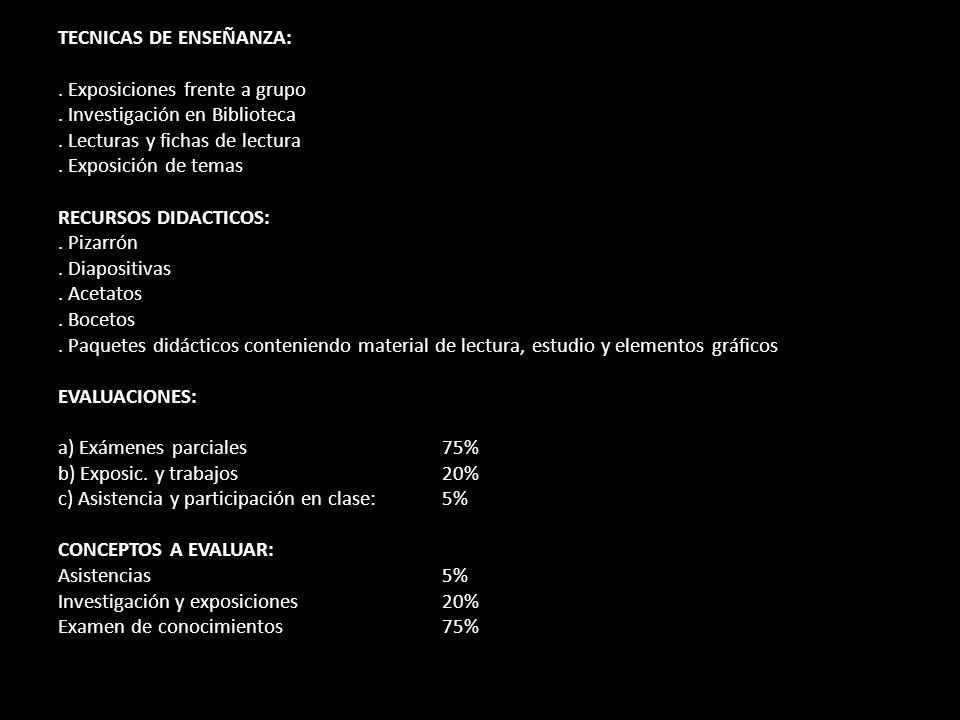 TECNICAS DE ENSEÑANZA: