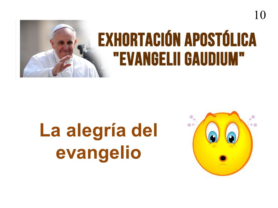 La alegría del evangelio