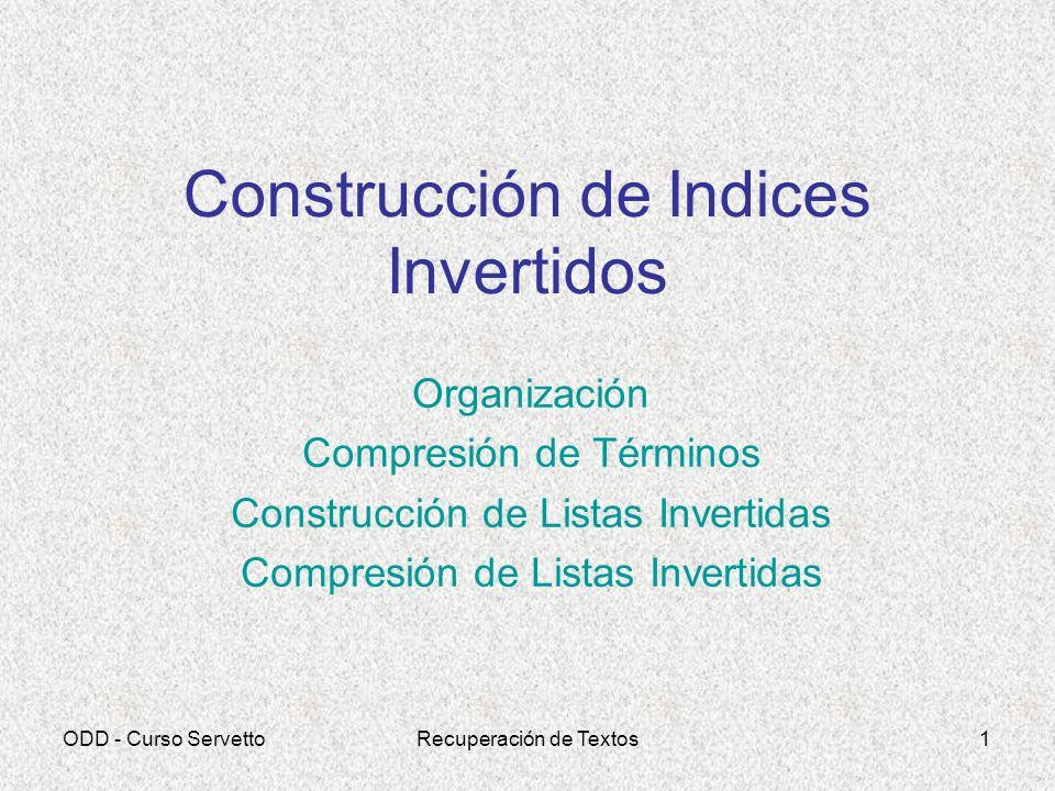 Construcción de Indices Invertidos