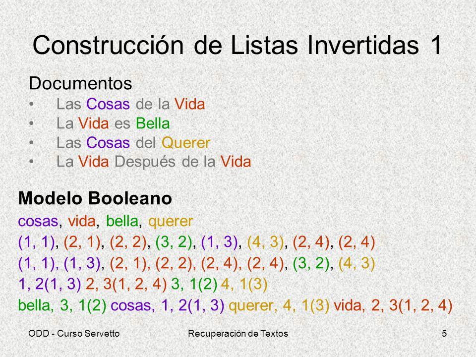 Construcción de Listas Invertidas 1