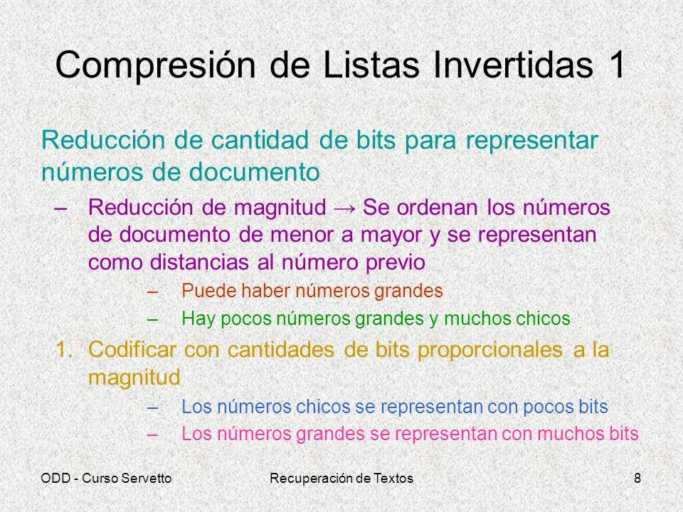 Compresión de Listas Invertidas 1