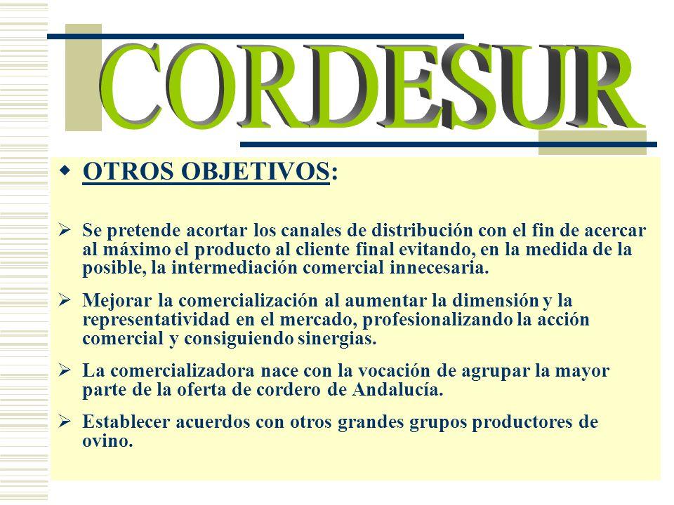 CORDESUR OTROS OBJETIVOS: