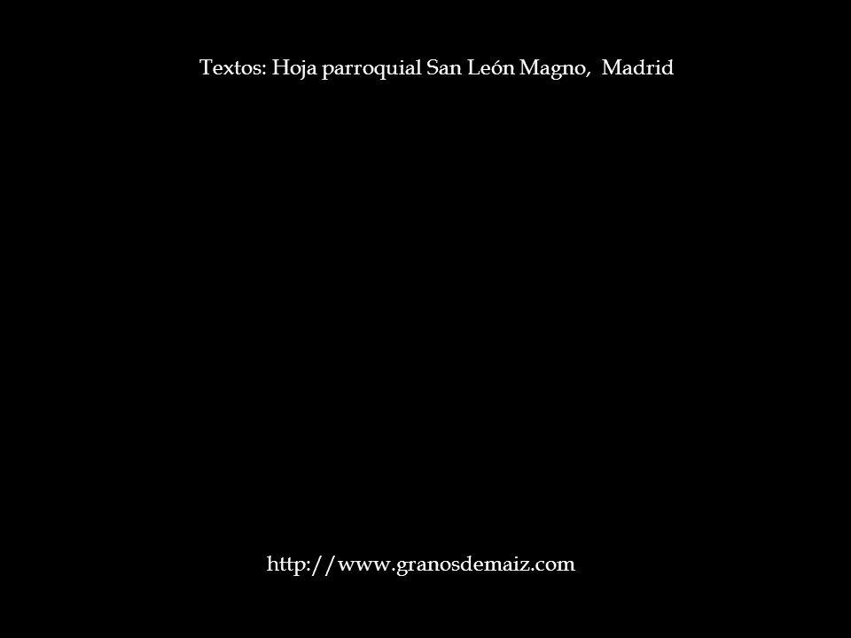 Textos: Hoja parroquial San León Magno, Madrid