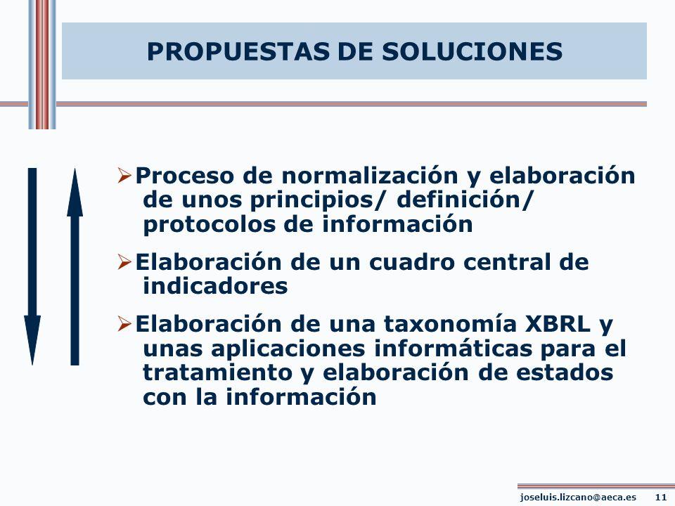 PROPUESTAS DE SOLUCIONES joseluis.lizcano@aeca.es 11