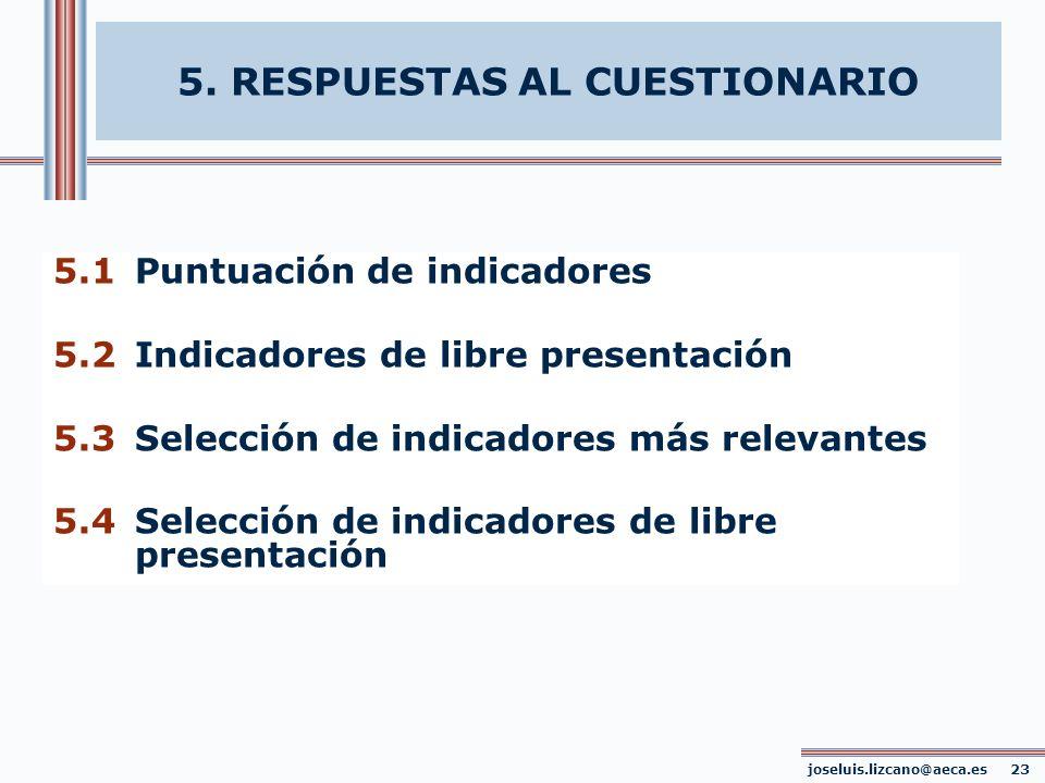 5. RESPUESTAS AL CUESTIONARIO joseluis.lizcano@aeca.es 23