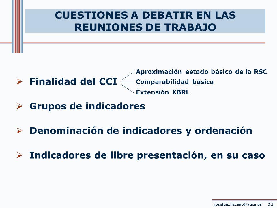 CUESTIONES A DEBATIR EN LAS REUNIONES DE TRABAJO