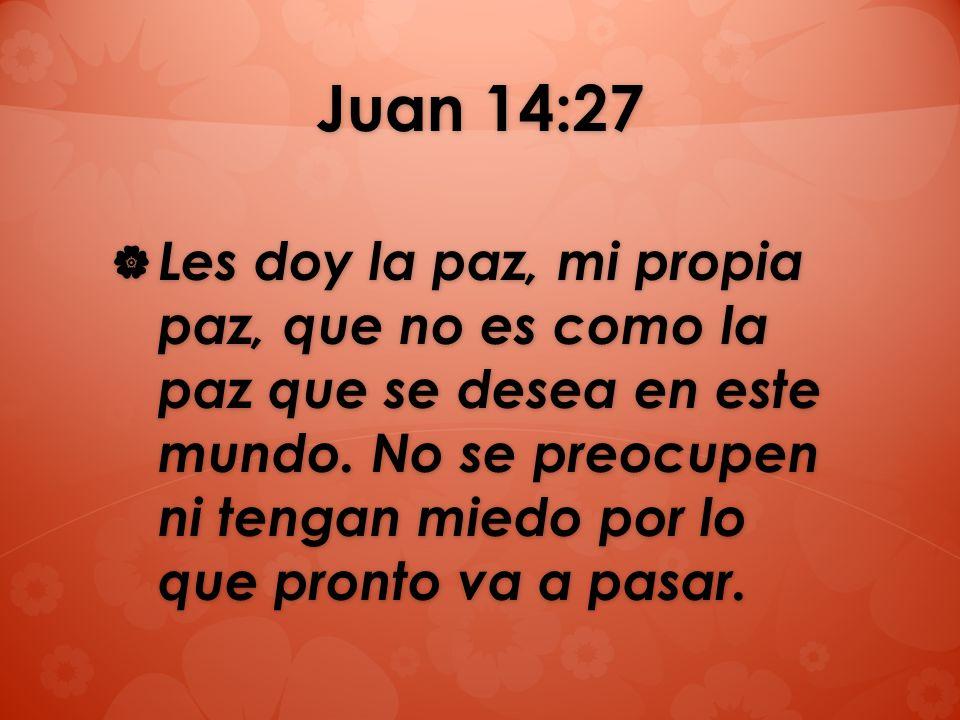 Juan 14:27