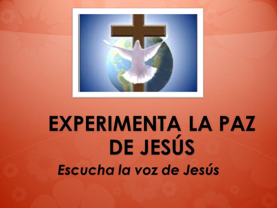 EXPERIMENTA LA PAZ DE JESÚS