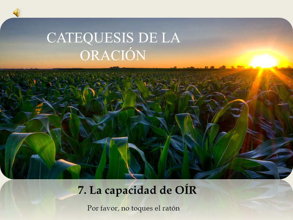 CATEQUESIS DE LA ORACIÓN