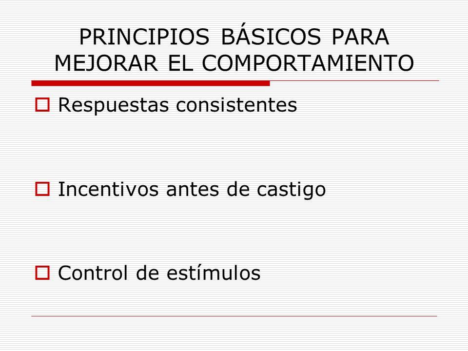 PRINCIPIOS BÁSICOS PARA MEJORAR EL COMPORTAMIENTO