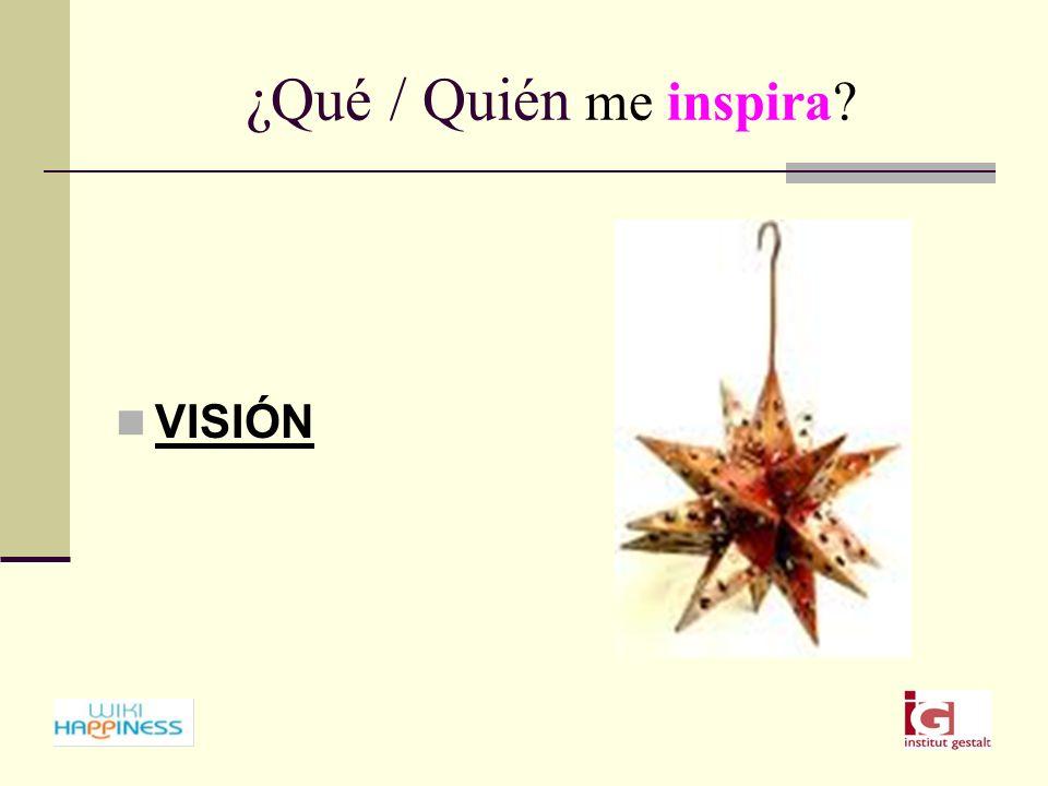 ¿Qué / Quién me inspira VISIÓN