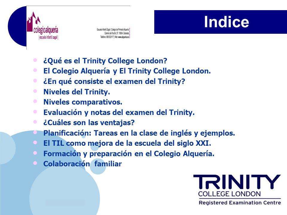 Indice ¿Qué es el Trinity College London