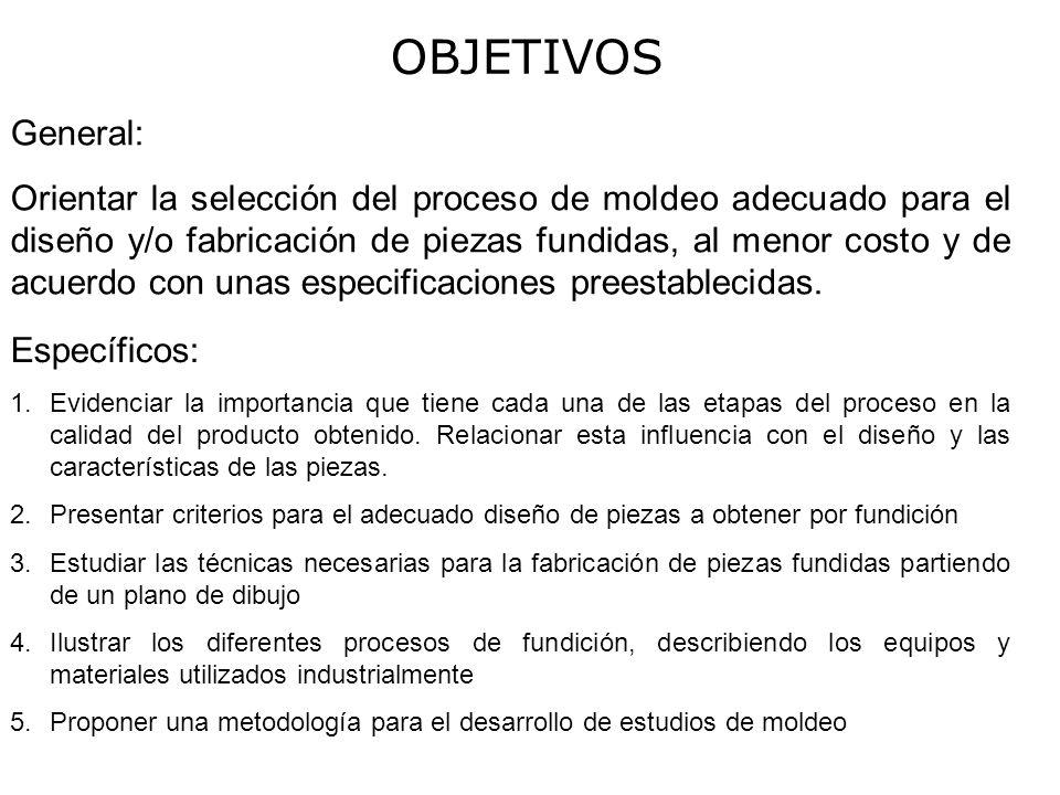 95a7024a5 OBJETIVOS General: Orientar la selección del proceso de moldeo ...