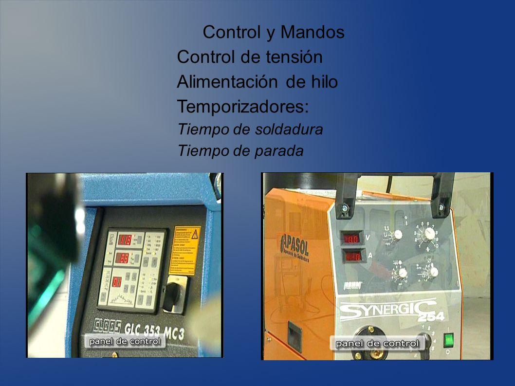 Control y Mandos Control de tensión Alimentación de hilo