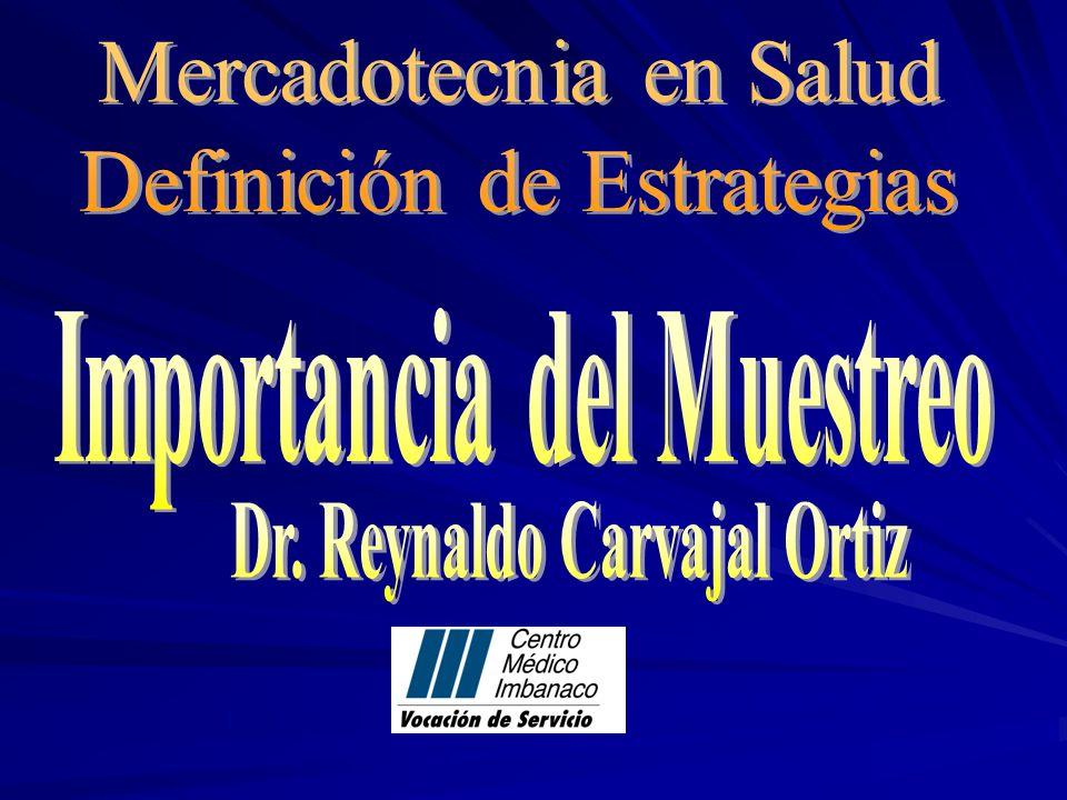 Importancia del Muestreo Dr. Reynaldo Carvajal Ortiz