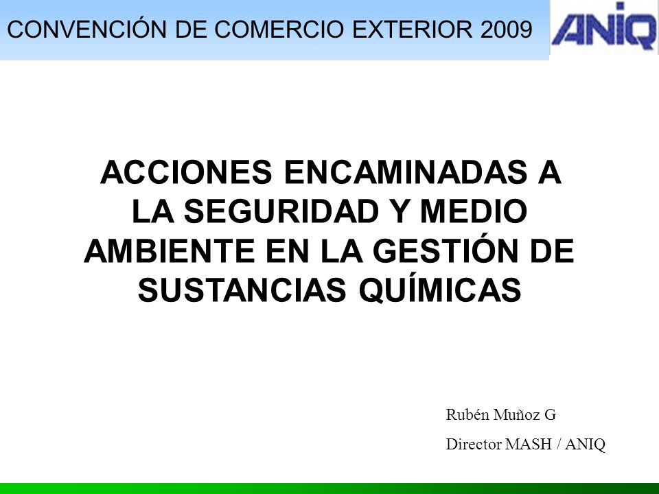 CONVENCIÓN DE COMERCIO EXTERIOR 2009
