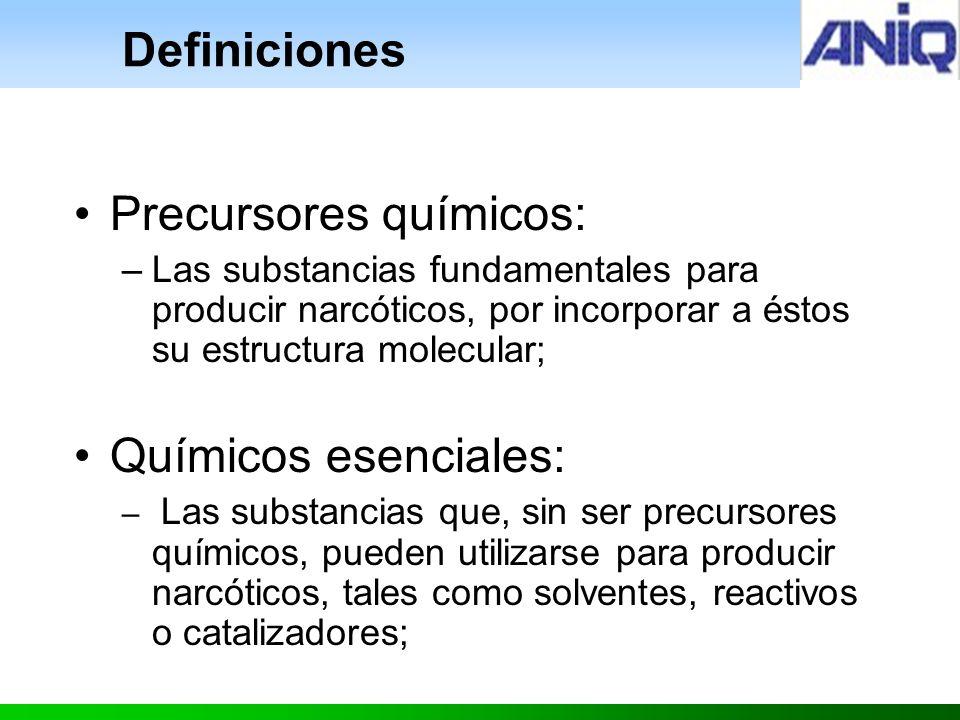 Precursores químicos: