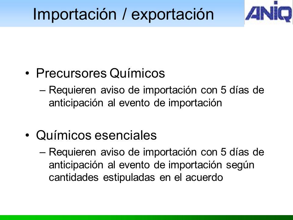 Importación / exportación