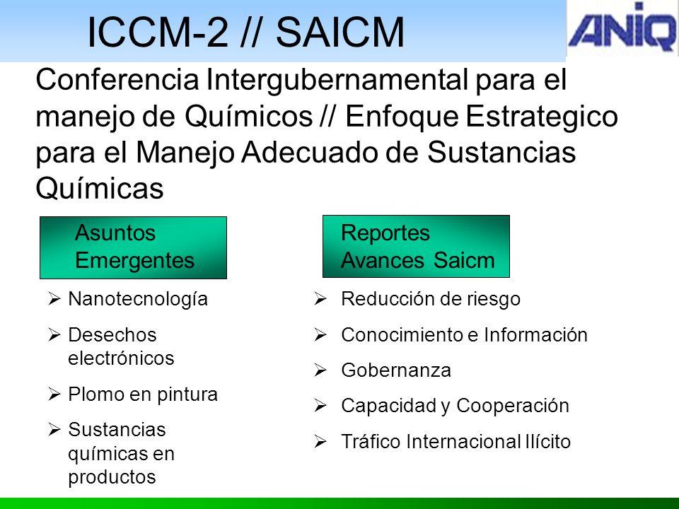 ICCM-2 // SAICM Conferencia Intergubernamental para el manejo de Químicos // Enfoque Estrategico para el Manejo Adecuado de Sustancias Químicas.