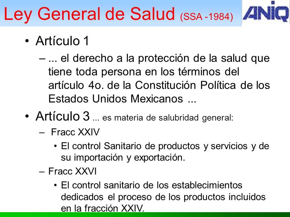 Ley General de Salud (SSA -1984)