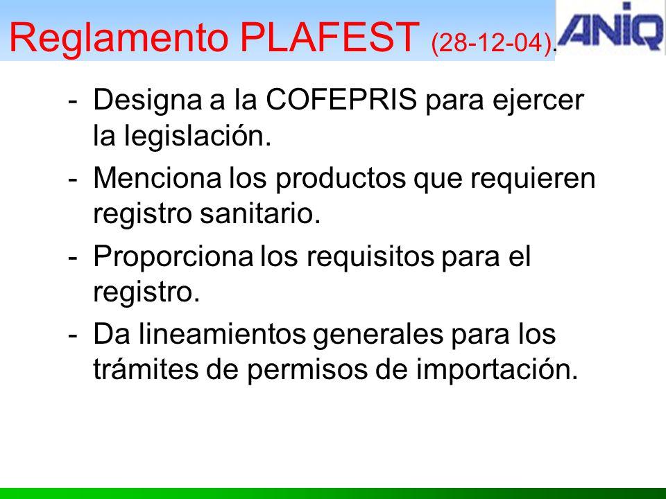 Reglamento PLAFEST (28-12-04).
