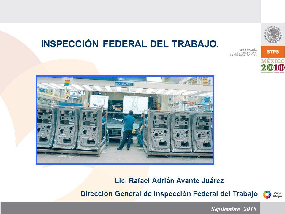 INSPECCIÓN FEDERAL DEL TRABAJO.