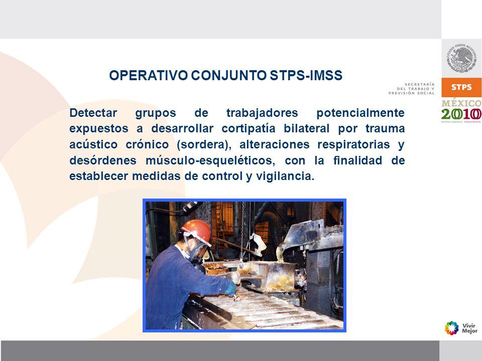OPERATIVO CONJUNTO STPS-IMSS